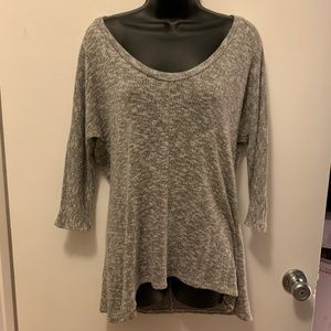 like new Sparkle & Fade grey scoop neck sweater